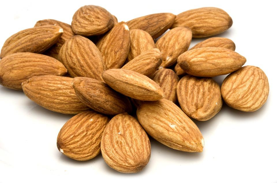 Almonds, Dried Almonds, Food, Nut, Snack, Organic