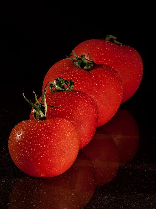 Tomatoes, Fruits, Fresh, Food, Droplets, Healthy