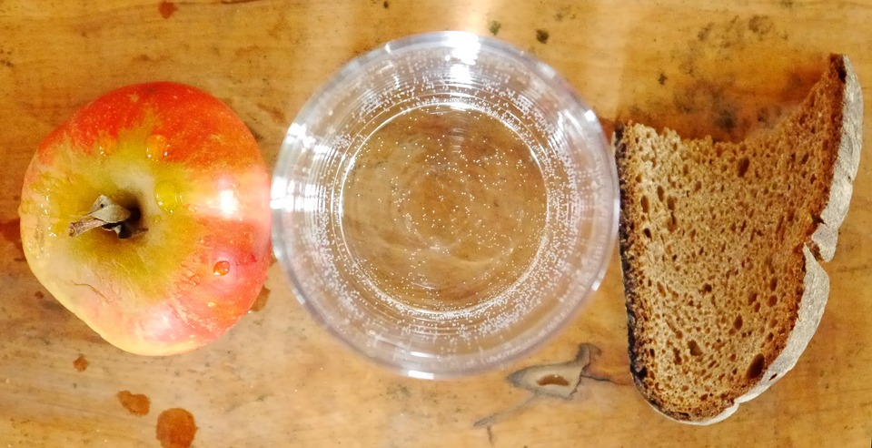 Fasting, Fast Food, Apple, Water, Bread, Dry, Eat, Food