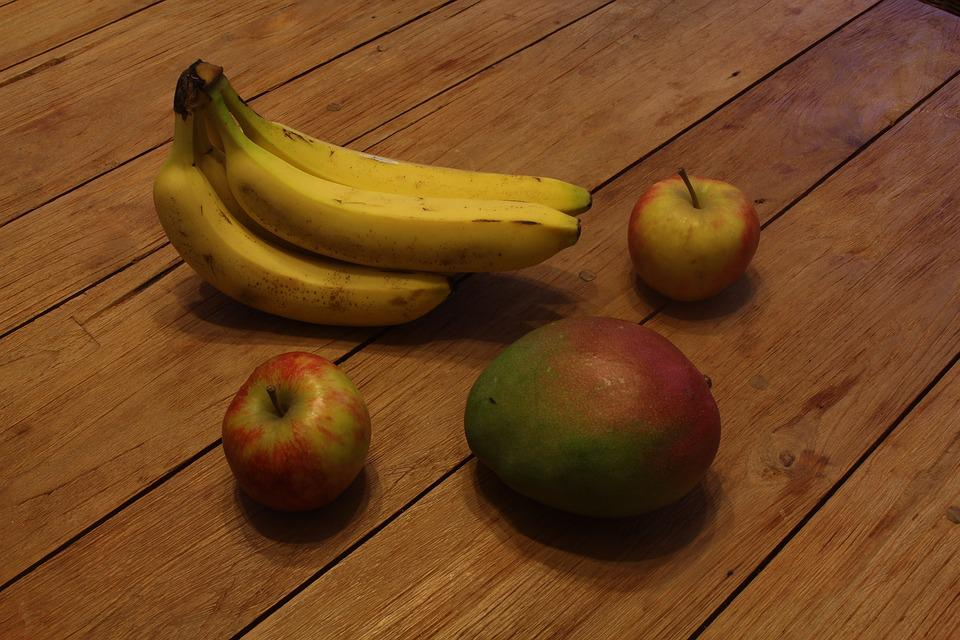 Fruit, Healthy, Table, Banana, Delicious, Eat, Food