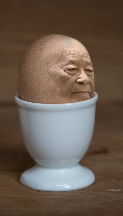Iman, Egg, Egg Cups, Face, Food, Eat, Food-photography
