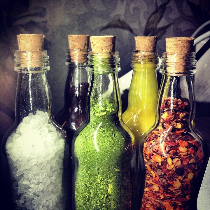 Bottle, Salt, Coffee, Mustard, Erb, Pepper, Food