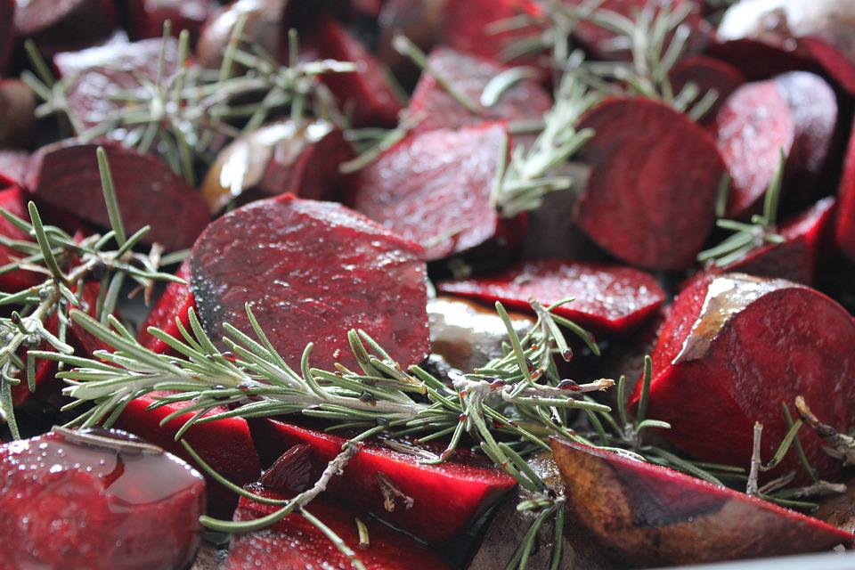 Red Beets, Rosemary, Foodstuffs, Food