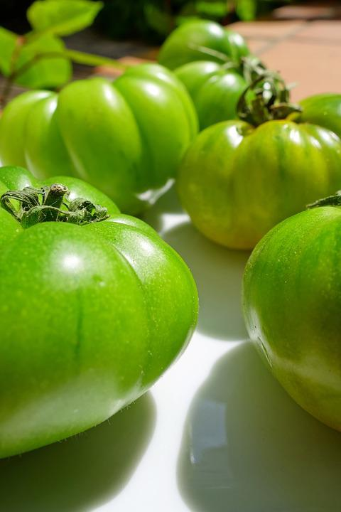 Fried Green Tomatoes, Tomatoes, Green, Vegetables, Food
