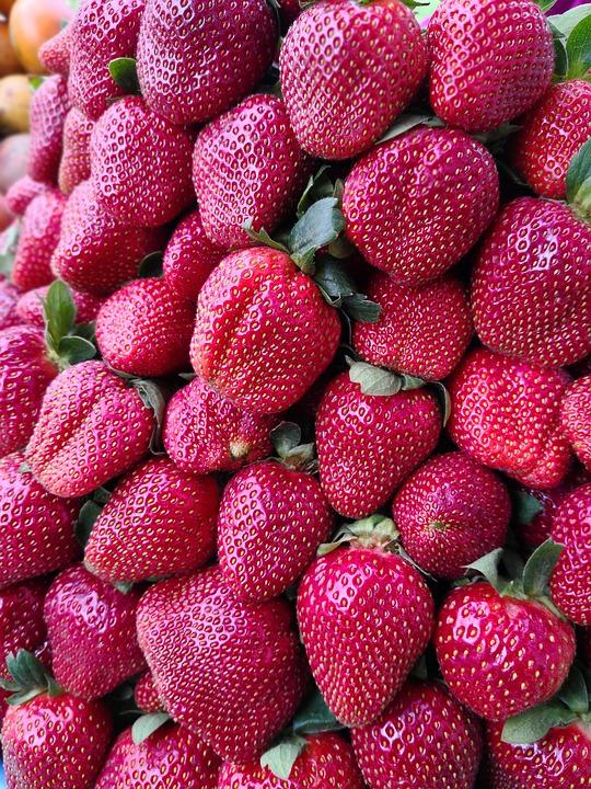Strawberries, Fruit, Red, Healthy, Food, Dessert