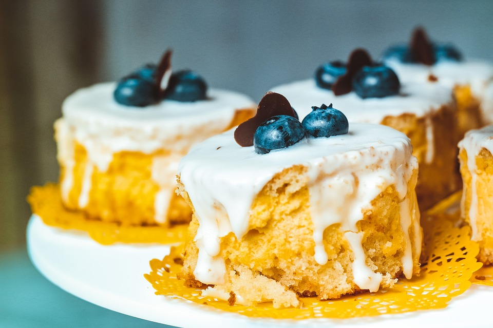 Baked Goods, Blueberries, Dessert, Food, Fruits