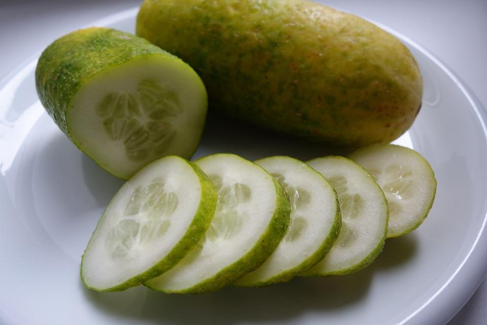 Braised, Cucumber, Vegetables, Bio, Green, Food, Eat
