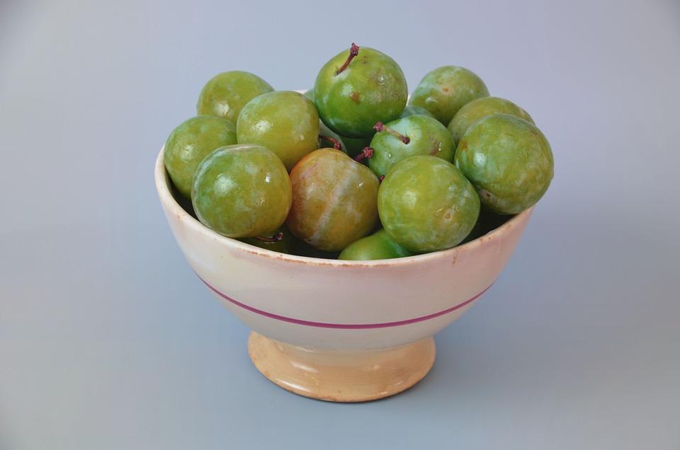 Plums, Queen Claude, Fruit, Dessert, Green, Power, Food