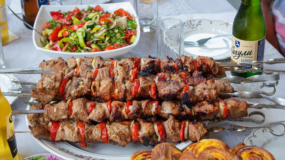 Moldova, Drochia, Barbeque, Meat, Food, Bbq, Grilled