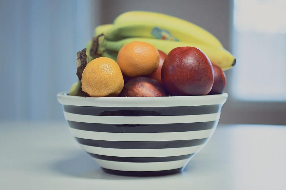 Fruit, Bowl, Stripes, Food, Healthy, Diet, Fresh