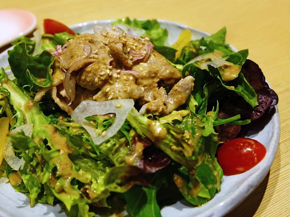 Salad, Japanese, Vegetable, Healthy, Fresh, Food, Diet