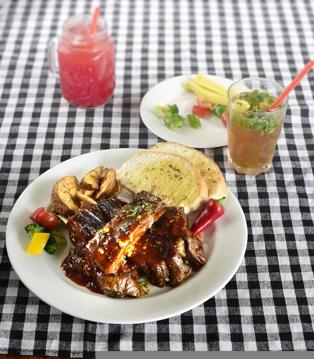 Barbecue, Spare Ribs, Lunch, Meal, Dish, Food, Pork