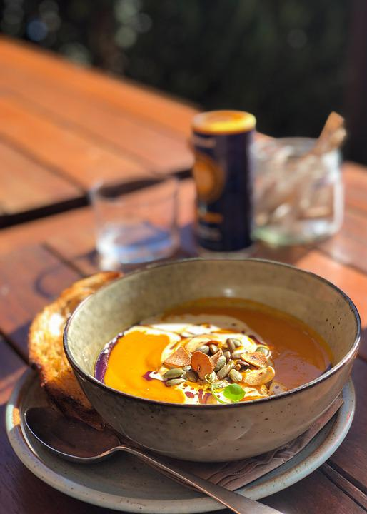 Pumpkin Soup, Food, Dish, Soup, Meal, Lunch, Tasty