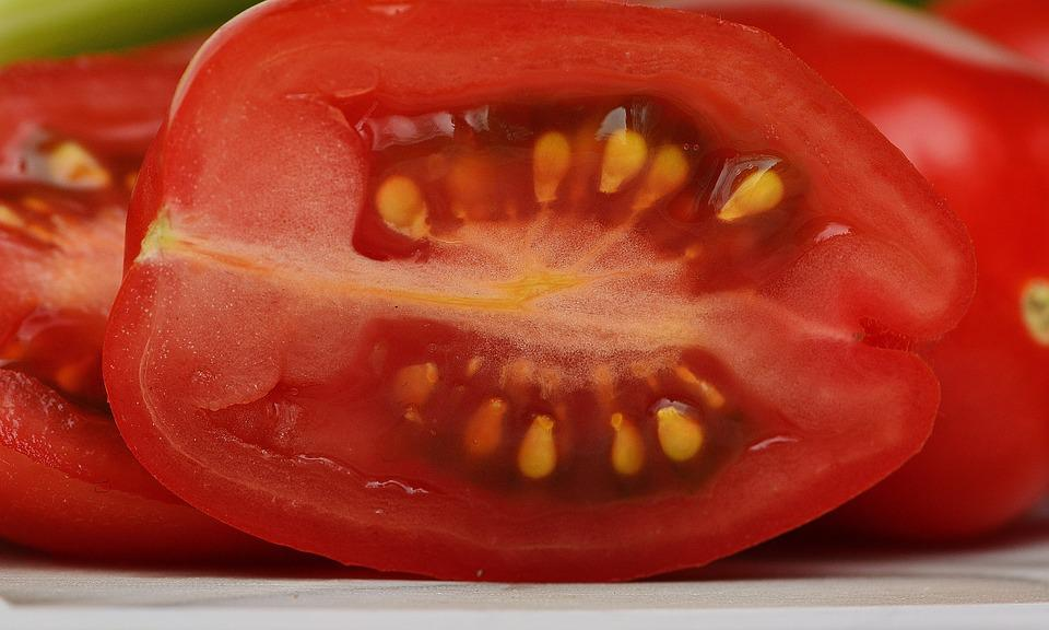 Tomatoes, Sliced, Vegetables, Macro, Red, Food, Garden
