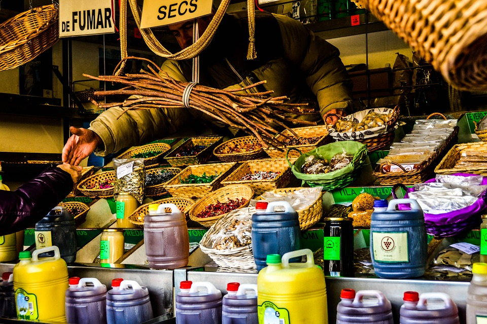 Market, Colors, Food