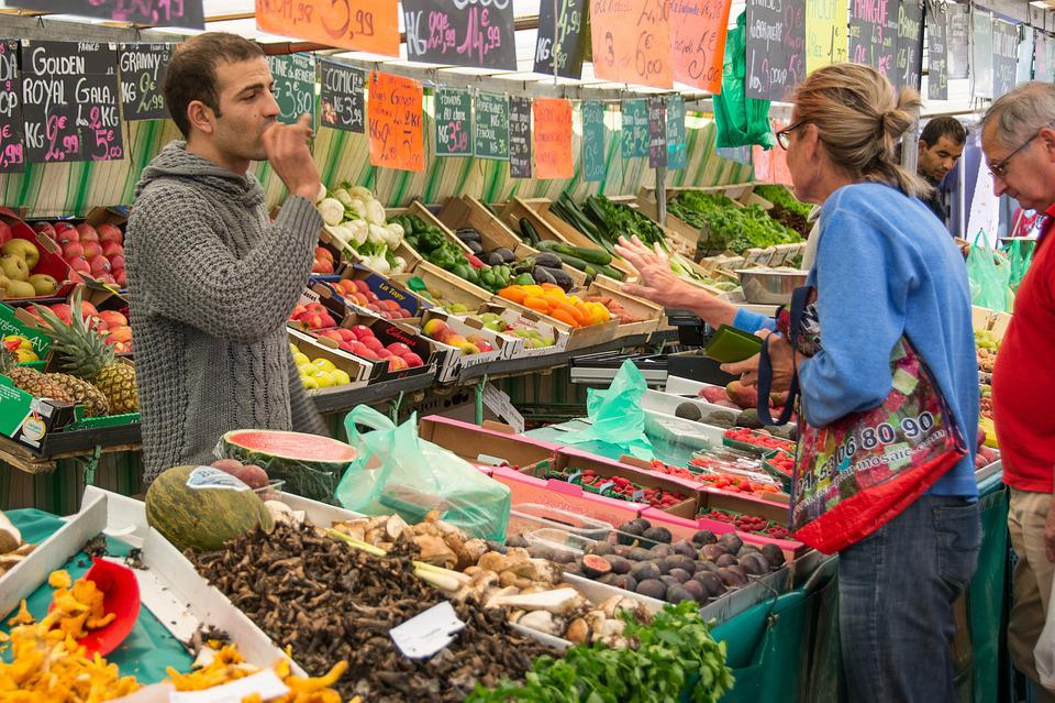Market, Market Stall, Seller, Food