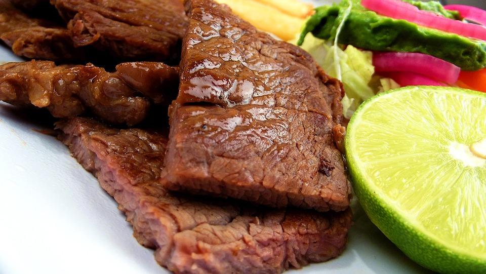 Meat, Steak, Asada, Plate, Food, Beef, Grill, Meal