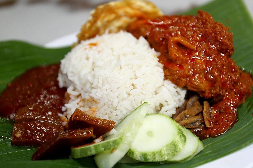 Food, Nasi Lemak, Asia, Malaysia, Malay, Dish, Meal