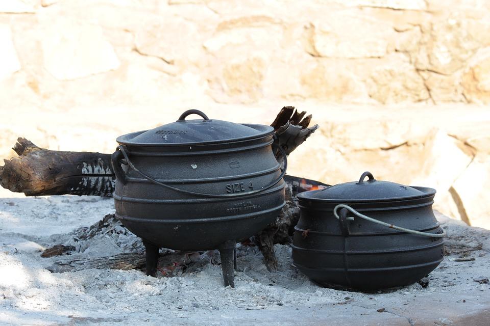 Pots, Food, Outdoor Cooking