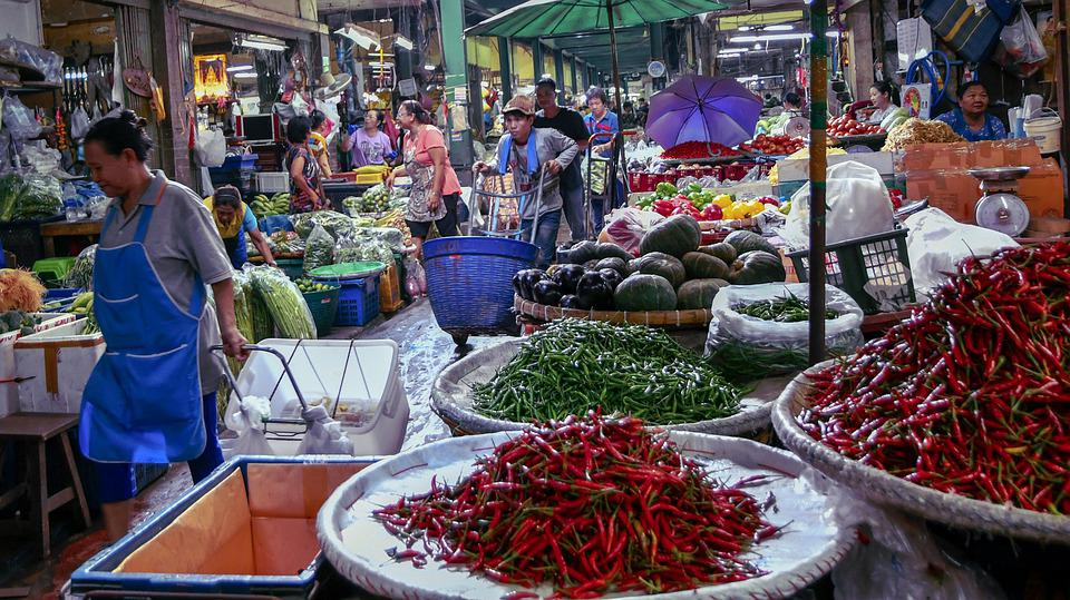 Market, People, Food, Buy, Stall, Traditional, Shopping