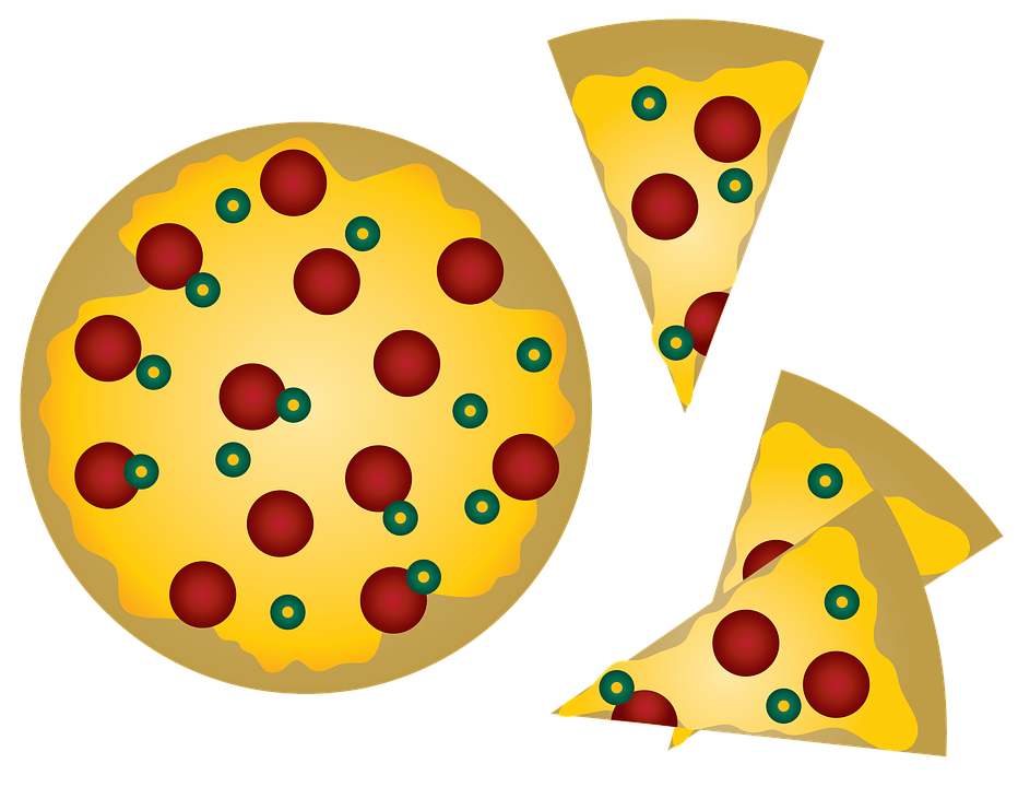 Pepperoni Pizza, Pizza, Italian, Cheese, Food, Vectors
