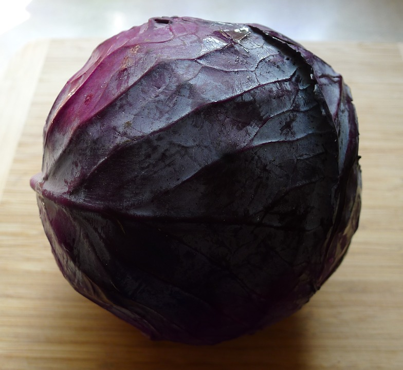 Red, Red Cabbage, Salad, Vegetable, Cabbage, Food