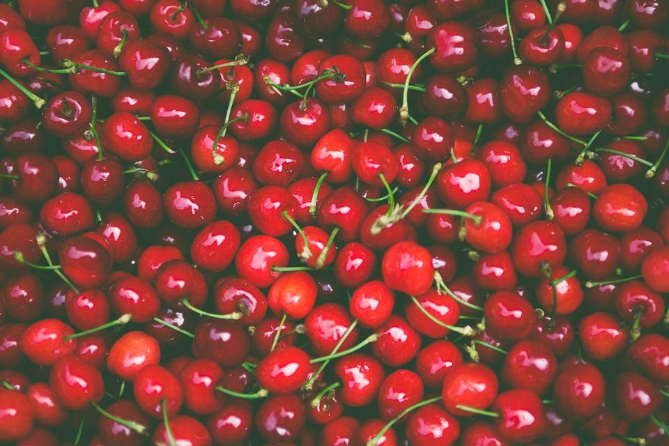 Cherries, Food, Fresh, Fruits, Red