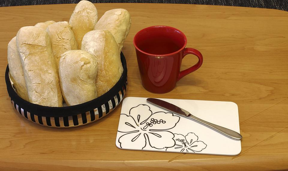 Coffee, Cup, Breakfast, Loaf, Roll, Food, Eat, Flour