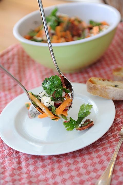Salad, Carrots, Ingredients, Vegetarian, Colorful, Food