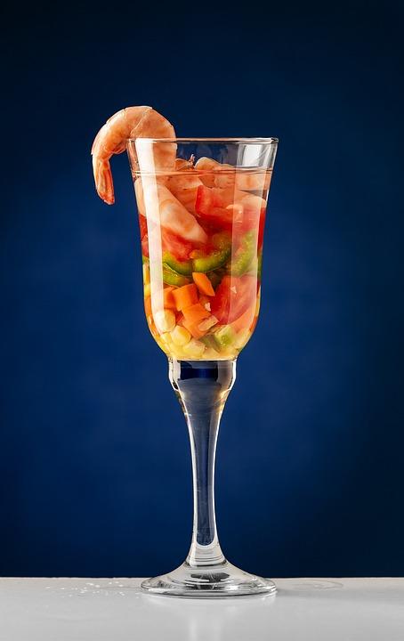 Shrimp, Healthy, Prawns, Salad, Fresh, Goblet, Food