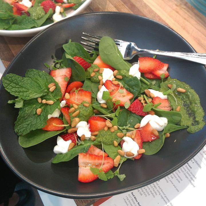 Salad, Strawberries, Healthy, Food, Nutrition