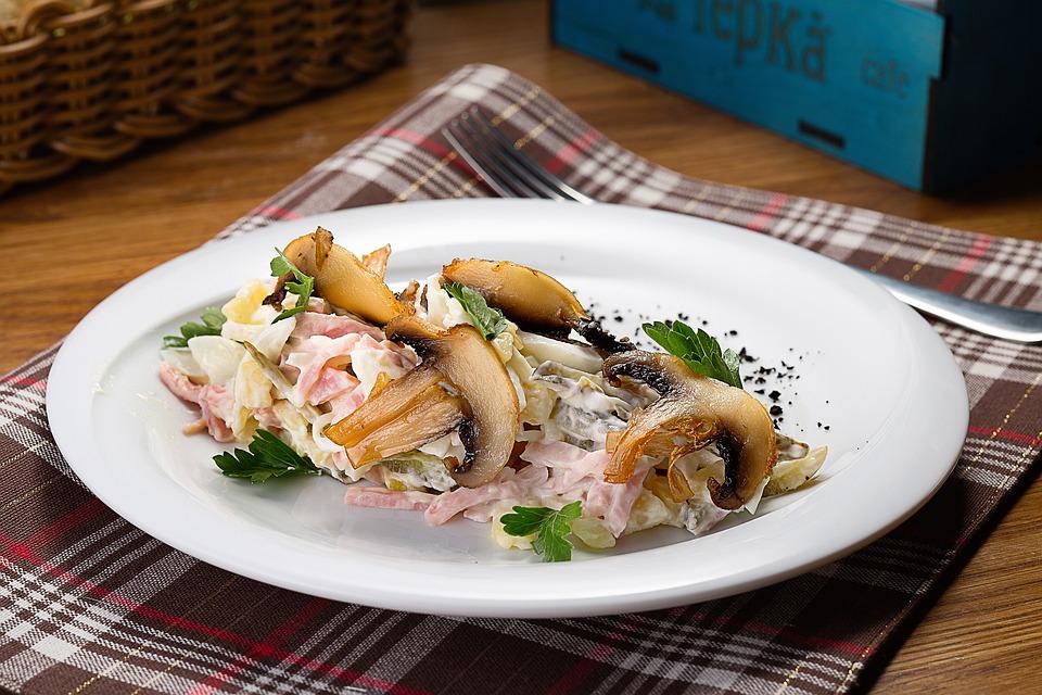 Food, Salad, Plate