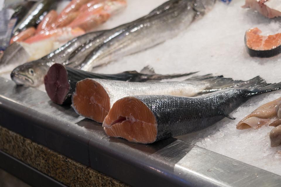 Fish, Market, Raw, Food, Seafood, Fresh, Salmon, Red
