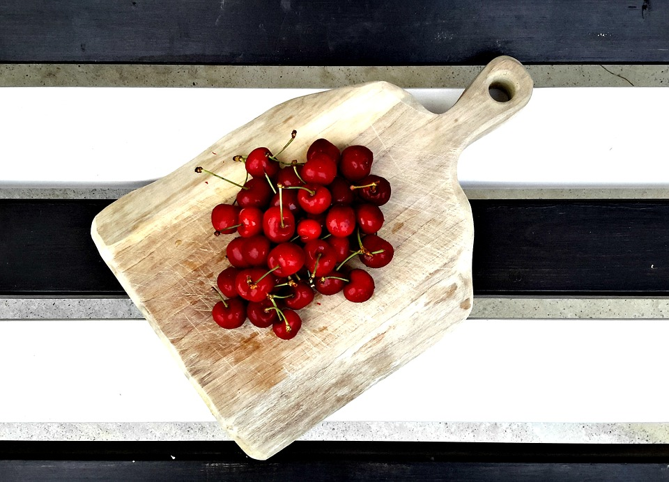 Wood, Serving, Cherry, Food, Wooden, Dinner, Meal, Meat