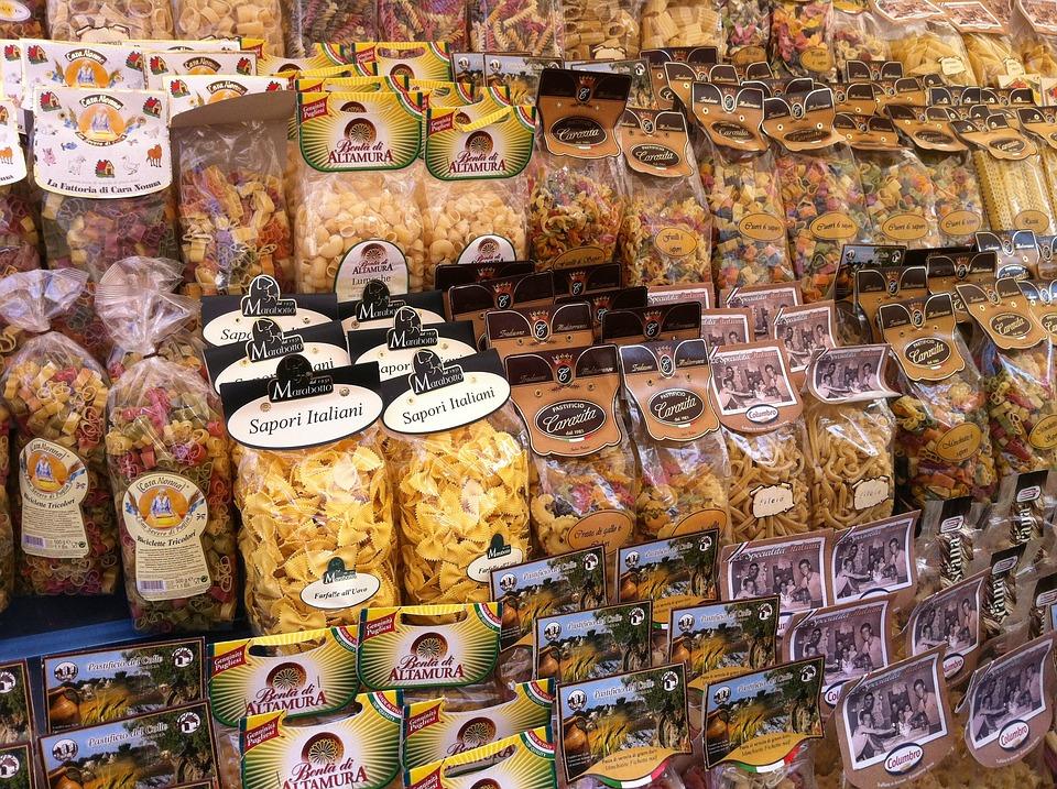 Pasta, Rome, Market, Italy, Shopping, Italian, Food