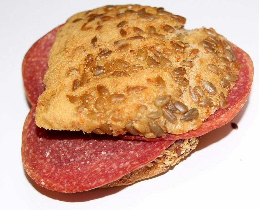 Bread, Sandwich, Salami Bread, Eat, Food, Snack, Hunger