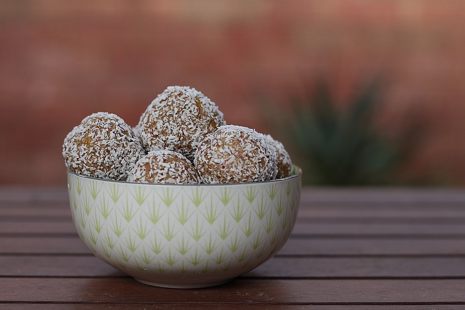 Food, Protein Balls, Snacks, Bowl, Healthy, Vegan
