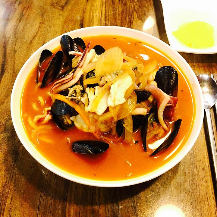 Spicy Seafood, Mussels, Seafood, If, Noodles, Food