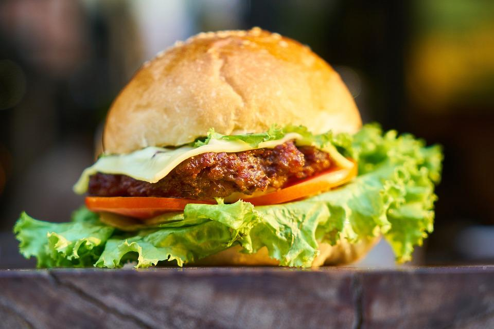 Burger, Bread, Meat, Nutrition, Tomato, Steak, Food