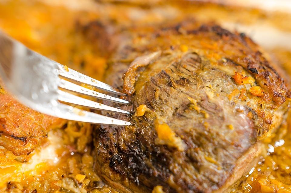 Food Taste Restaurant Meat Background Fork Beacon