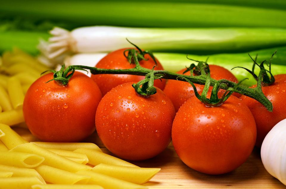 Tomatoes, Pasta, Food, Ingredients, Red Tomatoes