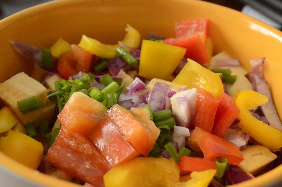 Salad, Pepper, Banana Da Terra, Green, Food, Vegetables