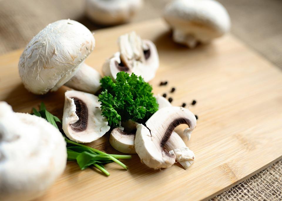 Mushrooms, Eat, Food, Vegetarian, Nutrition, Raw