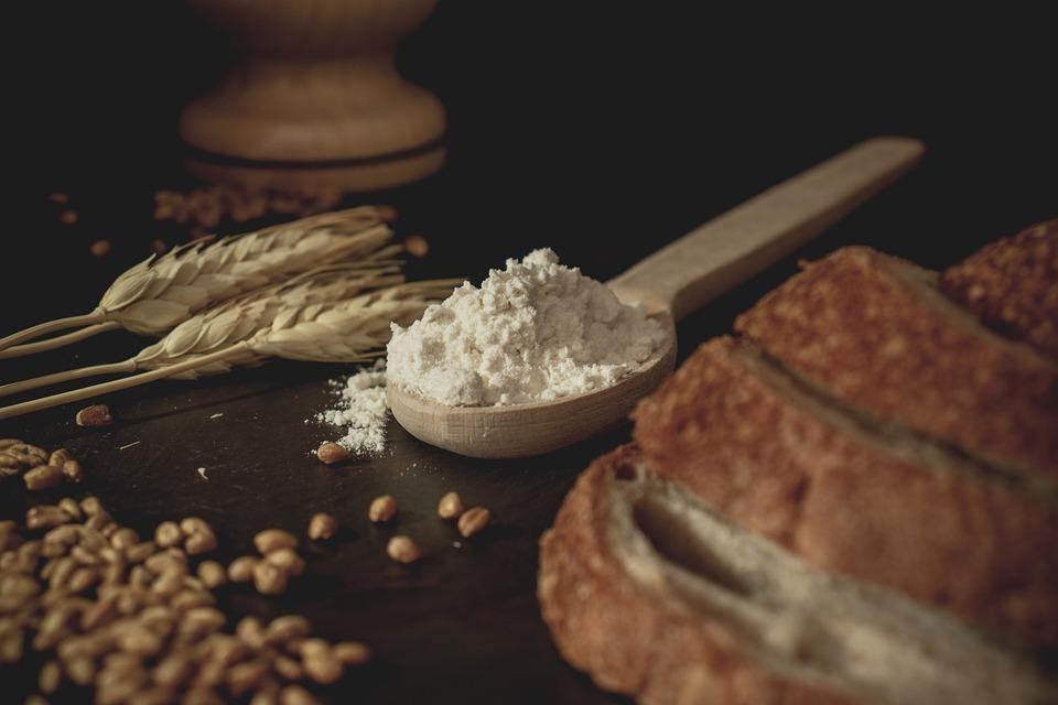 Bread, Wheat, Flour, Food, Wheat Grains, Baking