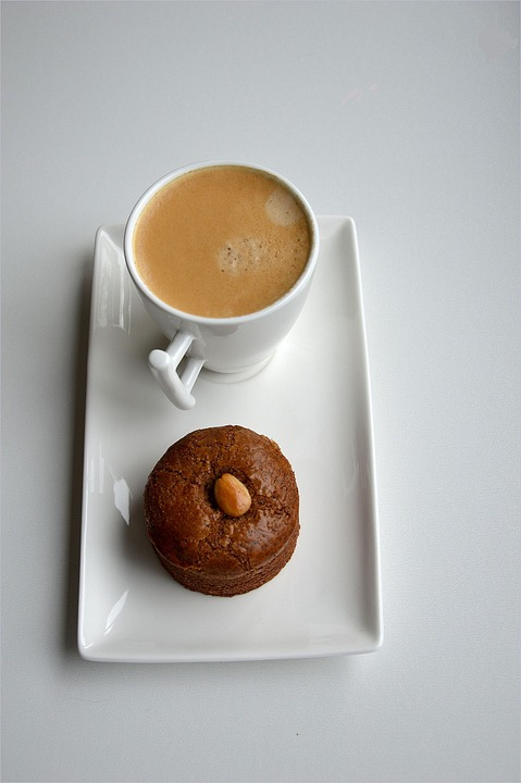 Coffee, Cakes, Snacks, Foods, Beverages, Drinks, White