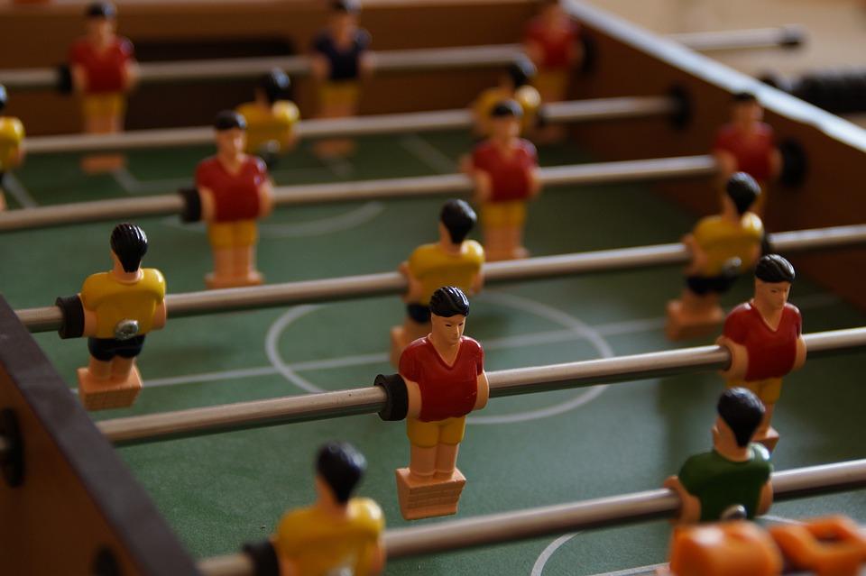 Foosball Table, Football, Figures, Males