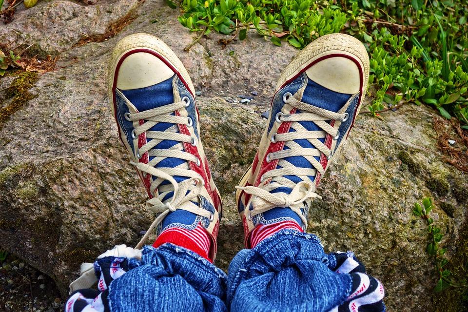 Foot, Shoe, Sneaker, Footwear, Woman, Female, Fashion
