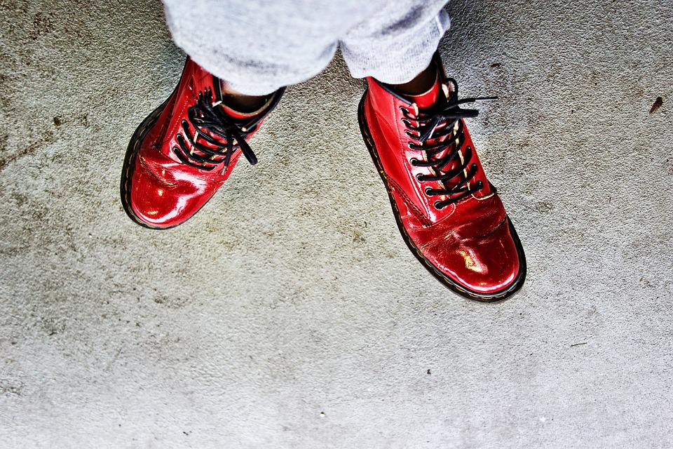 Foot, Leg, Female, Shoe, Red Shoe, Patent Leather