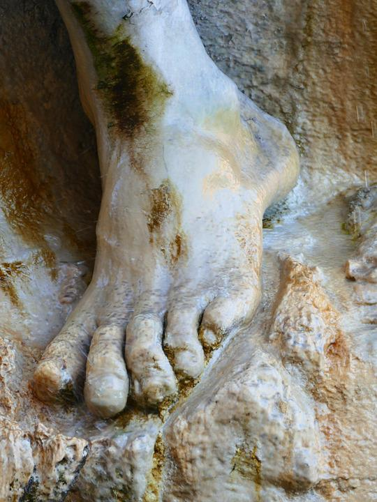 Foot, Toes Statue, Marble, Stone, Sculpture, Barefoot