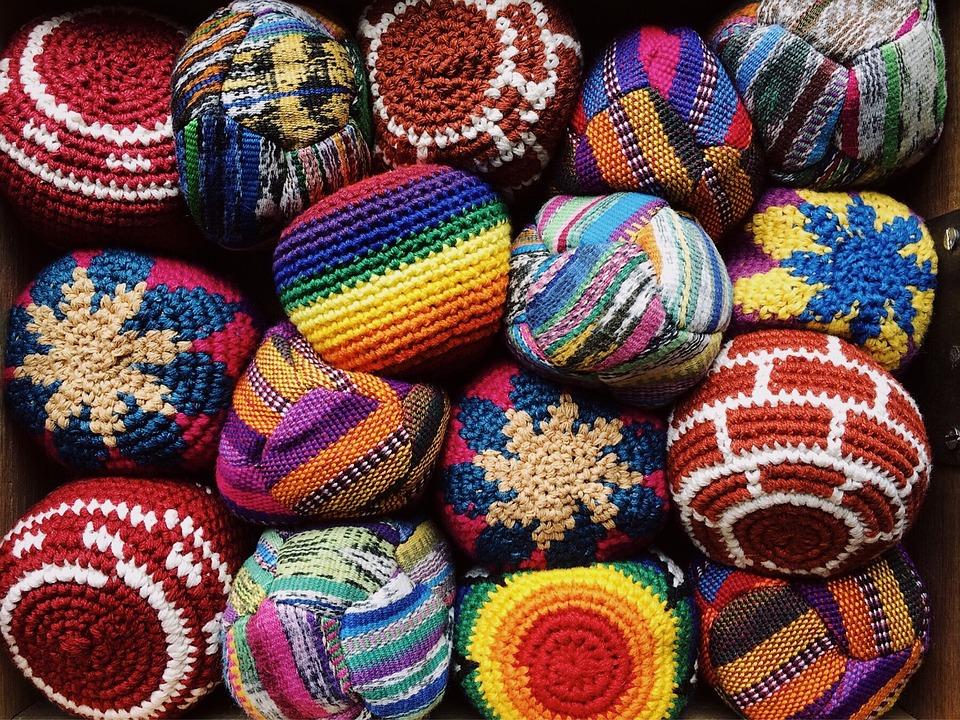 Hackey Sack, Footbag, Game, Play, Crocheted